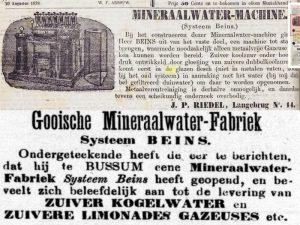 Beins Gooise mineraalwaterfabriek