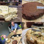 Cake: Kwark-honig, Chocolade-Amaretti, Appel-botertaart