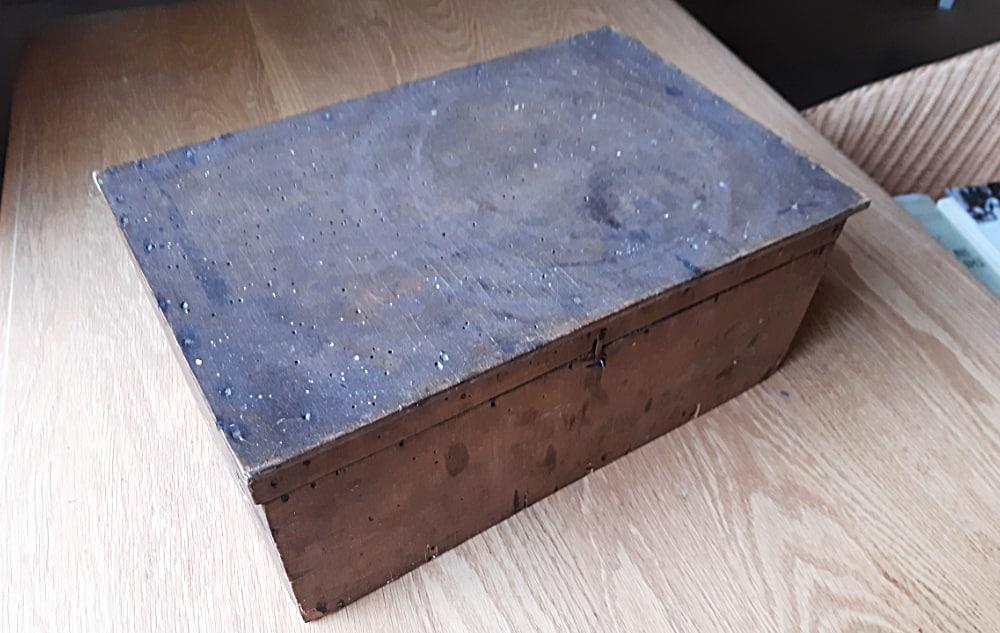 archeologie Een klein houten kistje